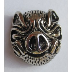 Boar cast metal badge