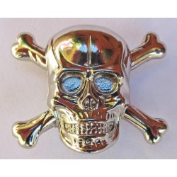 Skull cast metal badge