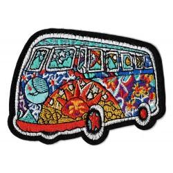 Patche écusson thermocollant minivan combi hippy