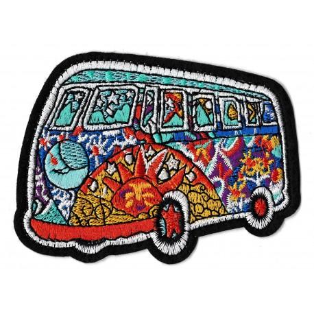 Patche écusson mini-van combi hippy