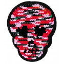 Iron-on Patch sequins skull