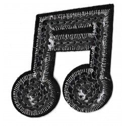 Iron-on Patch sequins music note
