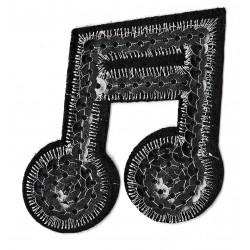 Patche écusson sequins note de musique