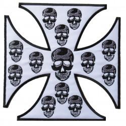 Toppa GRANDE termoadesiva Toppa patch toppa Teschio Mexican Skull 26 x 18 cm
