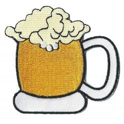 Patche écusson thermocollant Chope de Bière