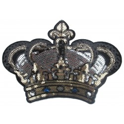 Iron-on Back Patch crown sequins