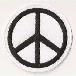 Patche écusson thermocollant Peace and Love