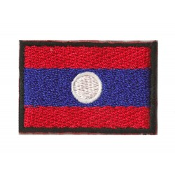 Patche écusson petit drapeau Laos