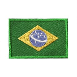 Iron-on Flag Small Patch Brazil