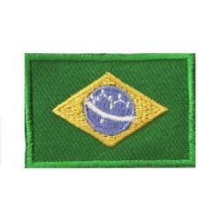 Toppa  bandiera piccolo termoadesiva Brasile
