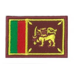 Patche écusson petit drapeau Sri Lanka