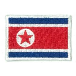 Patche écusson petit drapeau Corée du Nord