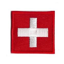 Patche écusson petit drapeau Suisse
