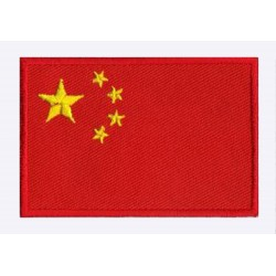 Aufnäher Patch Flagge China