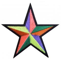 Parche termoadhesivo estrella multicolor
