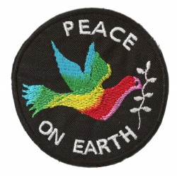 Patche écusson thermocollant Peace On Earth
