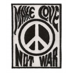 Patche écusson thermocollant Make Love Not War