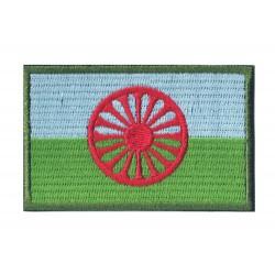 Patche écusson drapeau Peuple Rom gitan tzigane manouche