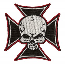 Iron-on Patch Biker Cross Color