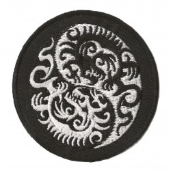Patche écusson thermocollant ying yang dragons