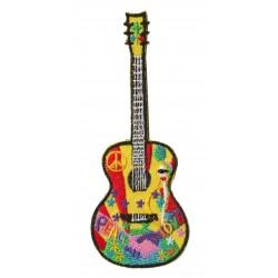 Patche écusson thermocollant Guitare
