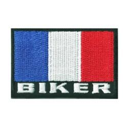 Patche écusson drapeau Biker France