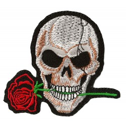 Patche écusson thermocollant Skull and Rose
