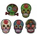 Aufnäher Patch Bügelbild Mexican Skull