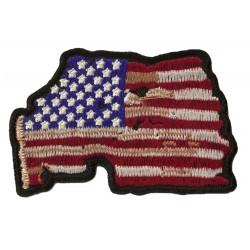 Patche drapeau USA destroy