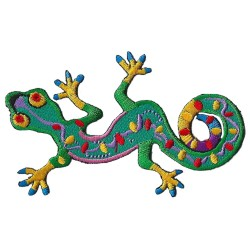 Patche écusson thermocollant Salamandre Gecko