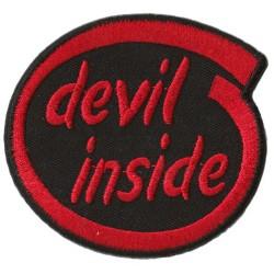 Patche écusson thermocollant Devil Inside