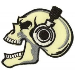 Patche écusson thermocollant skull art Musique tete de mort