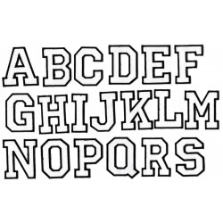 Iron-on Patch Letters