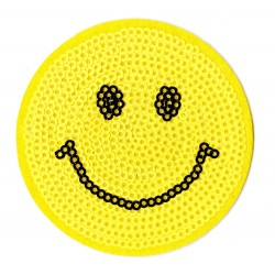 Iron-on Patch sequins Smiley