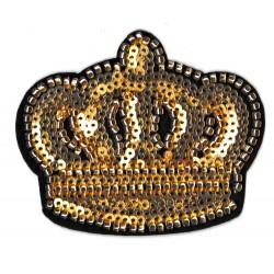 Patche écusson sequins couronne royale