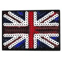 Iron-on Patch sequins Union Jack