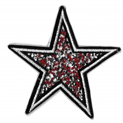 Iron-on Patch beaded star