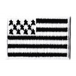 Iron-on Flag Small Patch Brittany