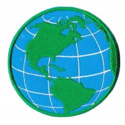 Aufnäher Patch Bügelbild Planet Erde