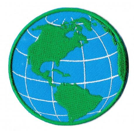 Patche écusson planète Terre