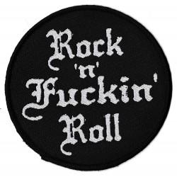 Rock and Fuckin' Roll Offizieller patch unter Lizenz Gewebte