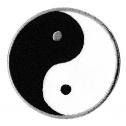 Patche écusson thermocollant ying yang