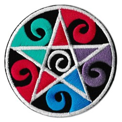 Patche écusson pentacle sorcellerie