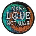 Iron-on Patch make love not war
