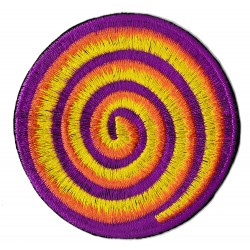 Patche écusson thermocollant spirale