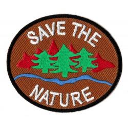 Patche écusson thermocollant Save the Nature
