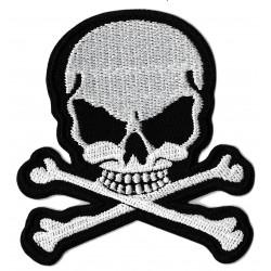 Patche écusson noir blanc  thermocollant Pirate