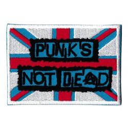 Patche écusson thermocollant Punks not dead