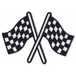 Iron-on Patch racing flags arrival