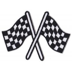 Patche écusson arrivée racing flags